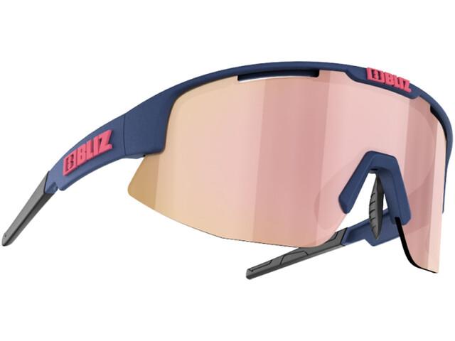 Bliz Matrix M11 Smallface Glasses, matt dark blue/brown with gold rosé multi